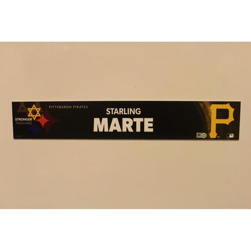 2019 Game Used Locker Nameplate - Starling Marte