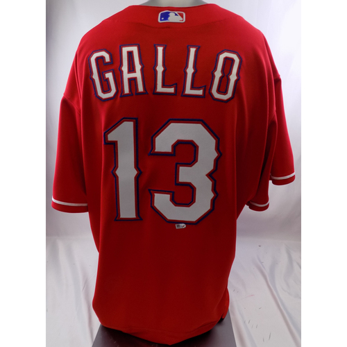 Photo of Red Team-Issued Jersey - Joey Gallo - 10/8/19