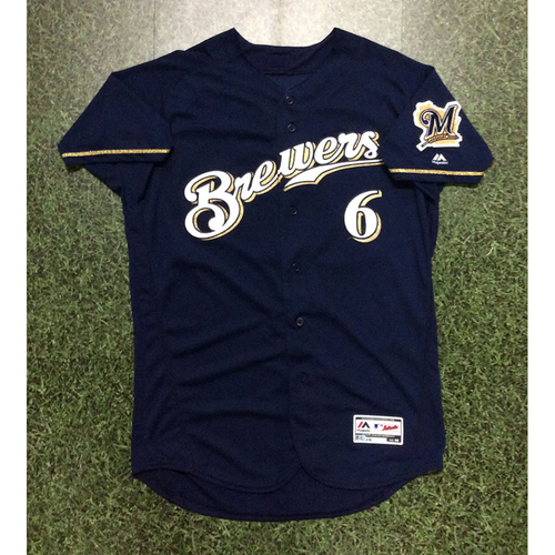 Lorenzo Cain 2018 Game-Used Navy Alternate Jersey (9/26/18 - Postseason-Clinching Game)