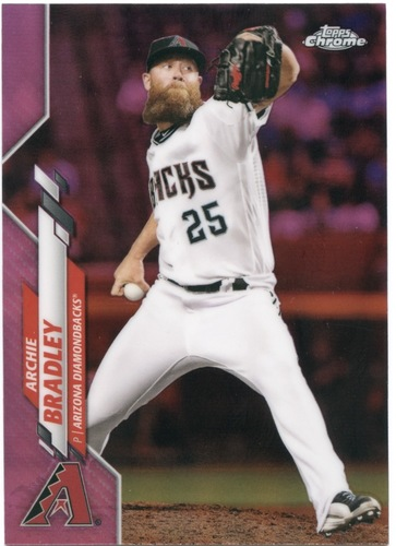 Photo of 2020 Topps Chrome Pink Refractors #14 Archie Bradley