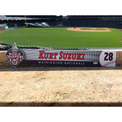 Photo of Kurt Suzuki Game-Used 2020 Locker Tag