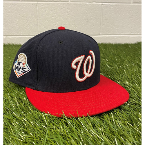 Photo of Javy Guerra Game-Used 2019 World Series Hat