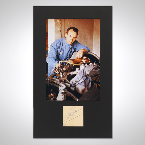 Photo of John Surtees 1960 Photograph With Mounted Autograph