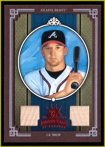 Photo of 2005 Diamond Kings Materials Framed Red #24 J.D. Drew Bat-Bat/100