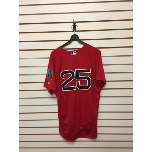 Photo of Jackie Bradley Jr. Game-Used September 30, 2016 Home Alternate Jersey