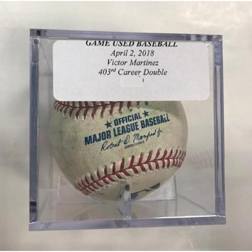 Photo of Game-Used Baseball: Victor Martinez Double
