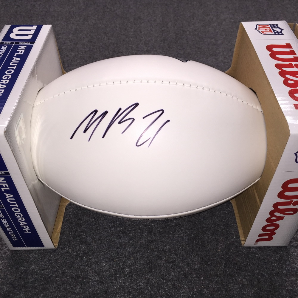 Patriots - Malcolm Butler signed panel ball w/ Patriots logo