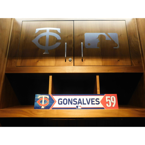 Photo of 2018 Stephen Gonsalves Game-Used Locker Name Plate