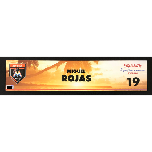 Photo of Game Used Locker Tag: Miguel Rojas