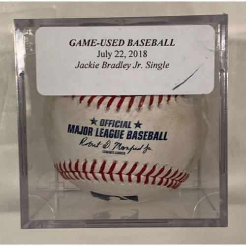 Game-Used Baseball: Jackie Bradley Jr. Single