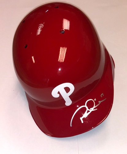 Rhys Hoskins Autographed Phillies Batting Helmet