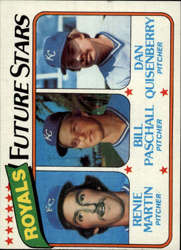 Photo of 1980 Topps #667 Renie Martin RC/Bill Paschall RC/Dan Quisenberry RC