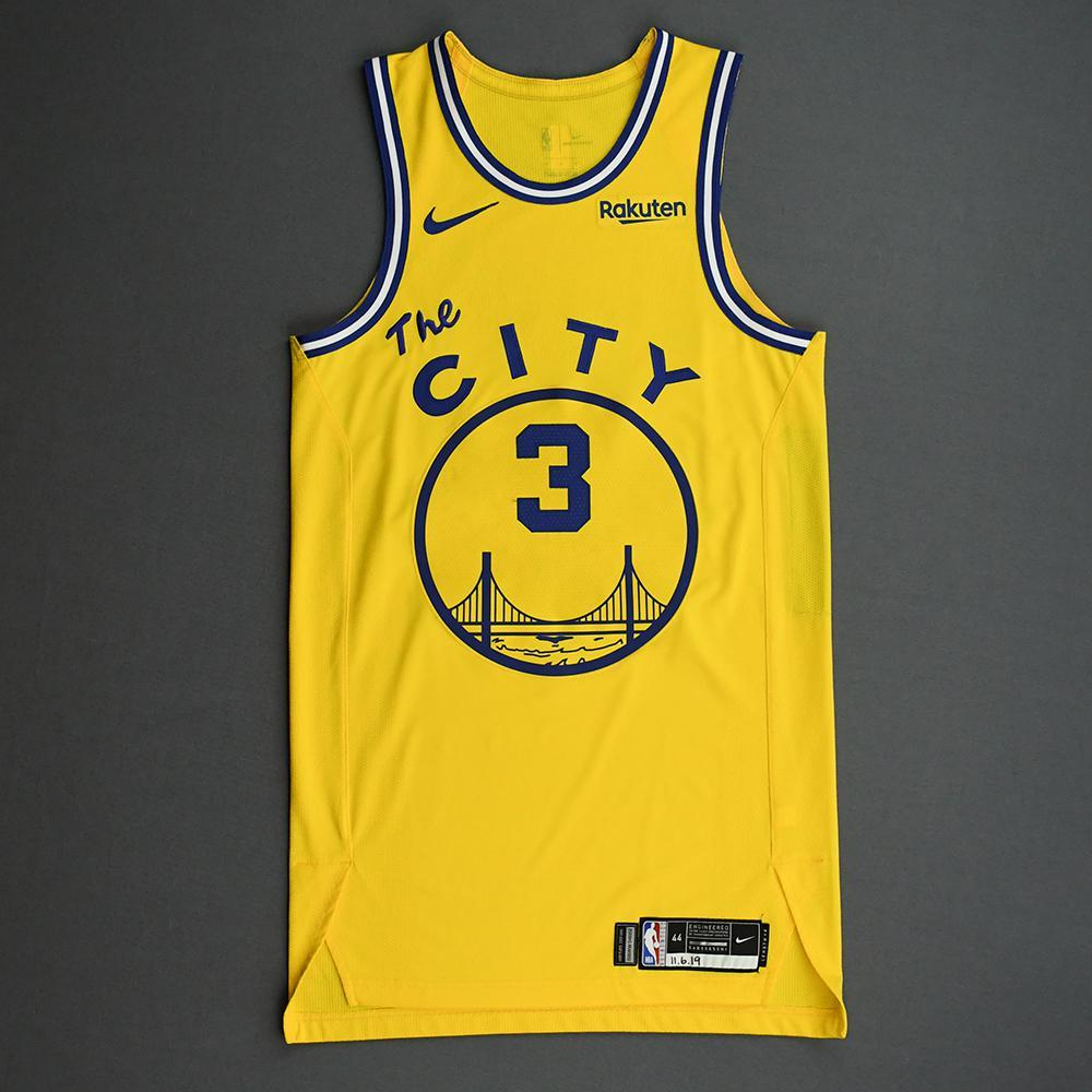 Jordan Poole - Golden State Warriors - Game-Worn Classic Edition 1966-67 Home Jersey - 2019-20 NBA Season