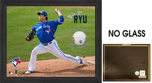 "Photo of Toronto Blue Jays 9"" by 11"" Hyun-Jin Ryu Frame with Game Used Baseball by Highland Mint"