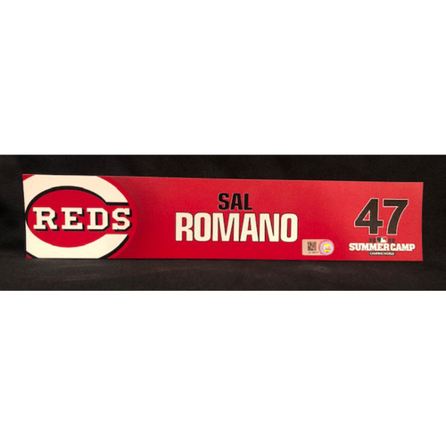 Photo of Sal Romano -- 2020 Sumer Camp Locker Tag -- Team-Issued