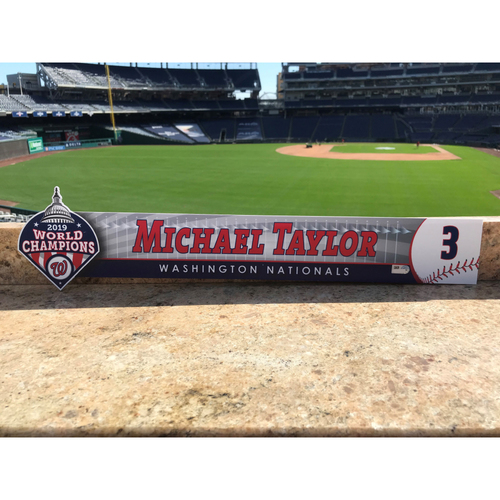 Photo of Michael A. Taylor Game-Used 2020 Locker Tag