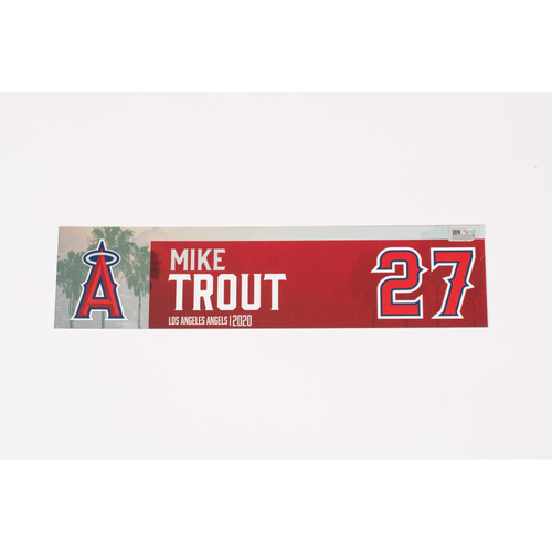 Photo of Mike Trout 2020 Team Issued Locker Tag