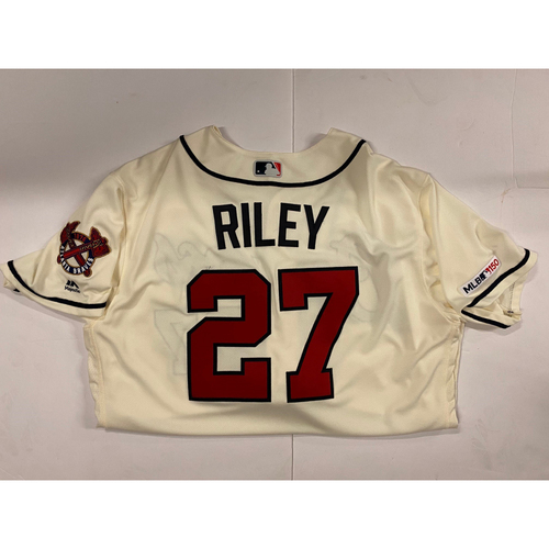 Photo of Austin Riley 2019 Team Issued Ivory Jersey