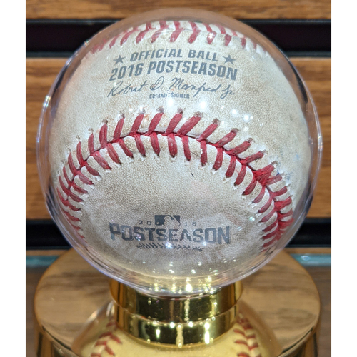 2016 ALDS Game 3 Red Sox vs. Indians Game Used Baseball - Joe Kelly to Francisco Lindor Foul