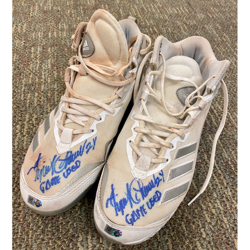 """Photo of Cabrera Exclusive! Miguel Cabrera Autographed Cleats with """"Game Used"""" Inscription (MLB AUTHENTICATED)"""