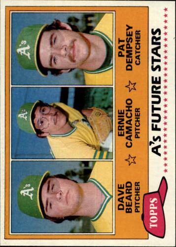 Photo of 1981 Topps #96 Dave Beard RC/Ernie Camacho RC/Pat Dempsey RC