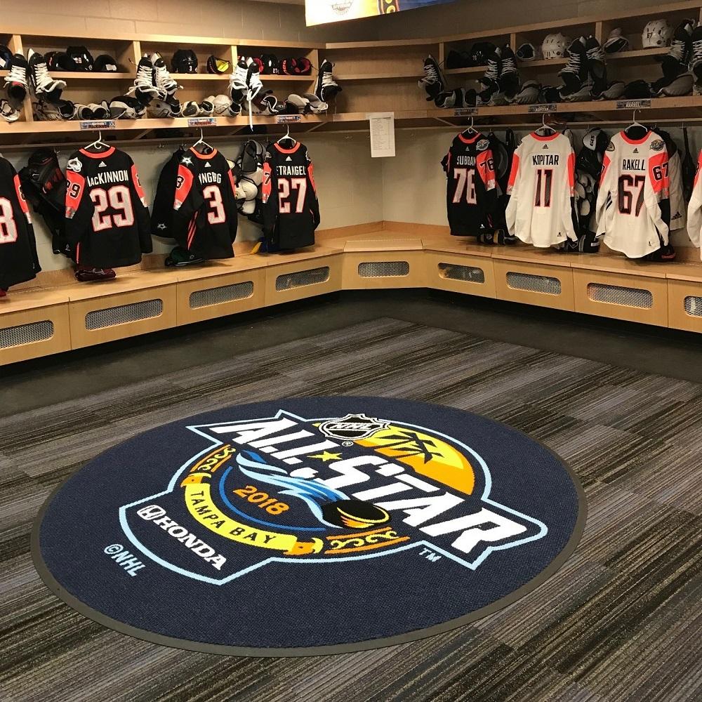 2018 NHL All Star Game Locker Room Carpet - Visitors Room