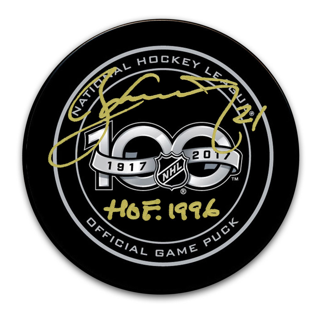Borje Salming 100th Year NHL Autographed Official Game Puck Toronto Maple Leafs