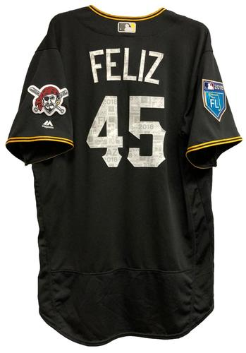 Photo of Michael Feliz Game-Used 2018 Spring Training Jersey