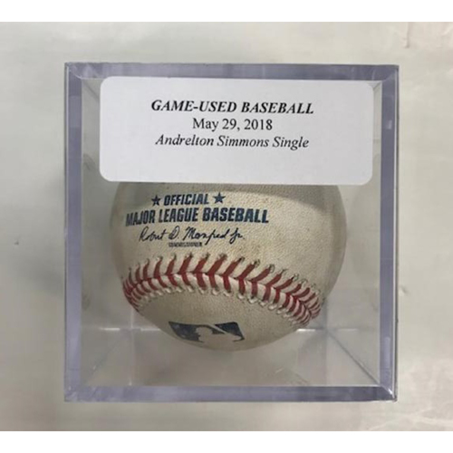 Photo of Game-Used Baseball: Anderlton Simmons Single