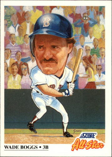 Photo of 1991 Score #393 Wade Boggs AS