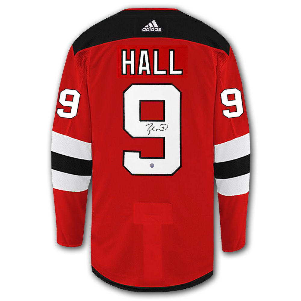 Taylor Hall New Jersey Devils Adidas Pro Autographed Jersey