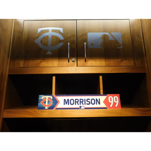 Photo of 2018 Logan Morrison Game-Used Locker Name Plate