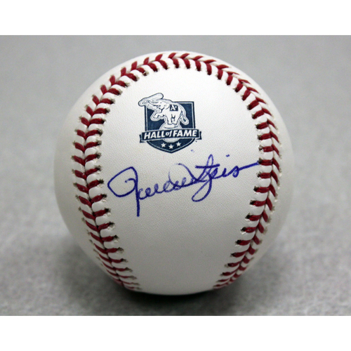 Photo of Rollie Fingers Autographed A's Hall of Fame Baseball