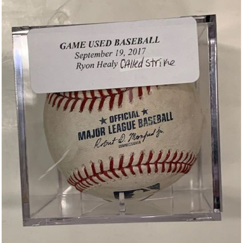 Photo of Game-Used Baseball: Ryon Healy Called Strike