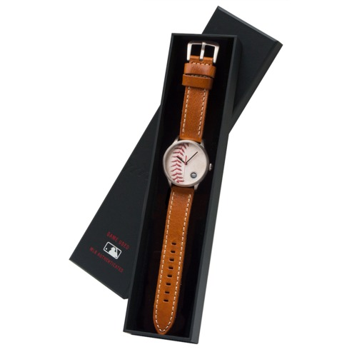 Photo of Tokens & Icons Boston Red Sox 2013 World Series Game-Used Baseball Watch - Game 2