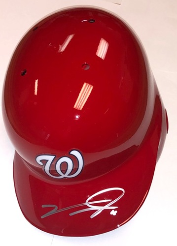 Photo of Victor Robles Autographed Nationals Batting Helmet