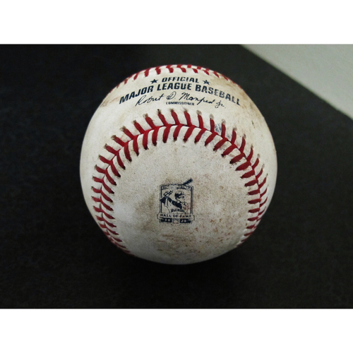 Photo of Game-Used Baseball - Pitcher: Anthony Bass, Batter: Tommy Pham (Reaches on fielding error, Kiermaier scores) - 8/9/19 vs. TB