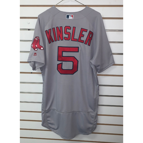 Ian Kinsler Team Issued 2018 Postseason Road Jersey