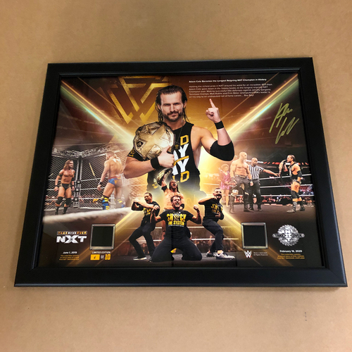 Photo of Adam Cole SIGNED Longest Reigning NXT Champion 16x20 Special Edition Frame (Random Number)