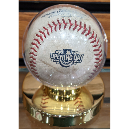 Photo of April 6, 2015 Red Sox at Phillies Opening Day Game Used Baseball