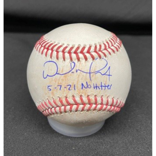 Photo of Wade Miley No-Hitter - *Autographed Game-Used Baseball* - Top 3 - Zach Plesac to Kyle Farmer (Single) - Inscribed as 5-7-21 No Hitter