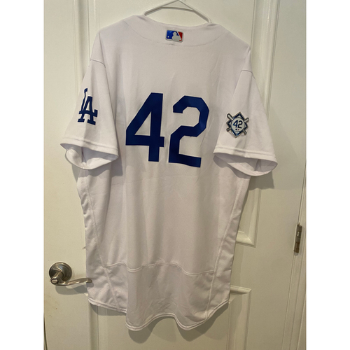 Photo of Corey Seager Game-Used Jackie Robinson Day Jersey - Size 46