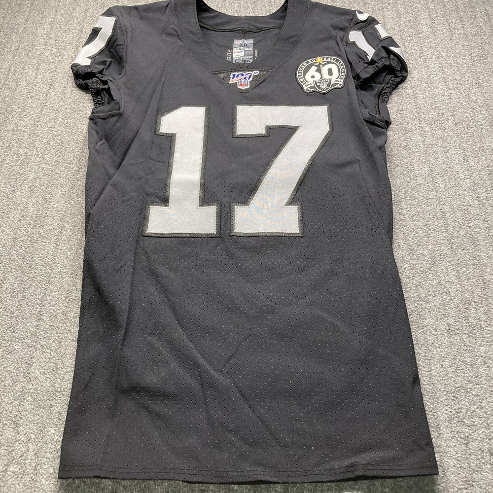 London Games - Raiders Dwayne Harris Game Used Jersey (11/24/19) Size 40 W/ AFL Eternal Flame 60 Year Patch