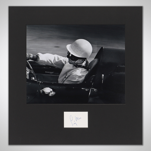 Photo of Stirling Moss Signed Mounted Photograph