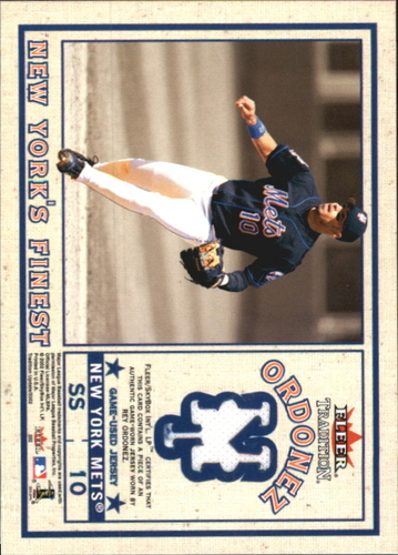 Photo of 2002 Fleer Tradition Update New York's Finest Single Swatch #11 R.Ordonez Jsy/Jeter