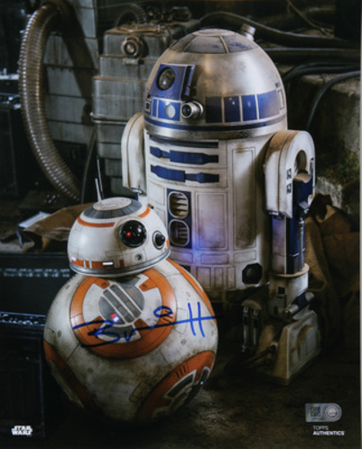 Brian Herring as BB-8 Autographed Blue Ink 8x10 Photo