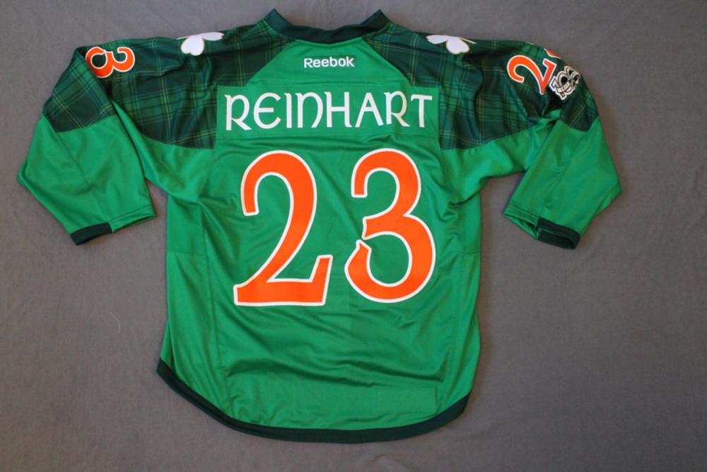 san francisco e1884 c3618 Sam Reinhart Pre Game Worn Buffalo Sabres St. Patrick's Day ...