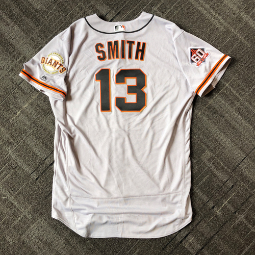 Photo of San Francisco Giants - Mother's Day Game-Used Jersey - #13 Will Smith - 1.0 IP, 1 K (size 50)