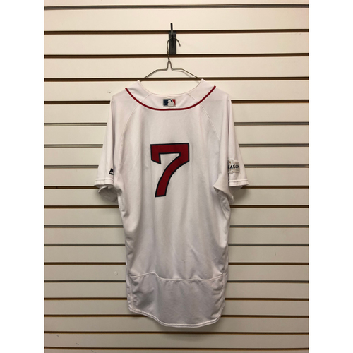 Christian Vazquez Game-Used October 1, 2017 Home Jersey