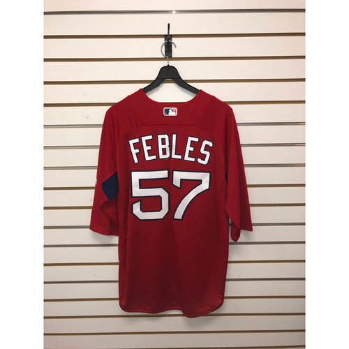 Photo of Carlos Febles Team-Issued Home Batting Practice Jersey